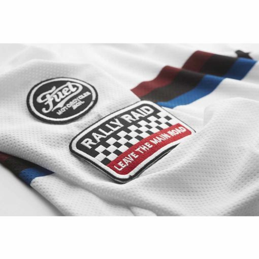 Fuel Rally Raid Jersey White - Patch