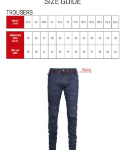 Racered Mens - Trousers Size Chart