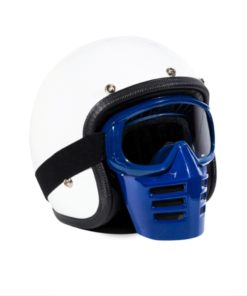70's Helmets Off Road Mask Blue