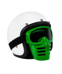 70's Helmets Off Road Mask Green