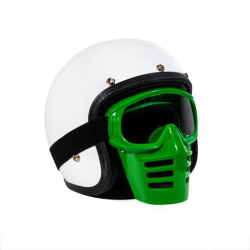 70's Helmets Off Road Mask Green