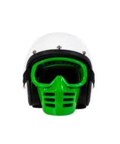 70's Helmets Off Road Mask Green - Front
