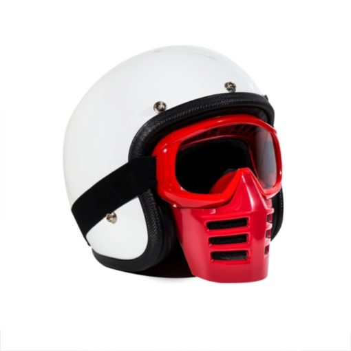 70's Helmets Off Road Mask Red