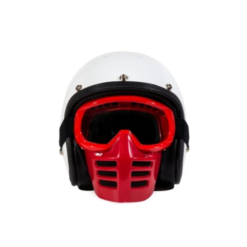 70's Helmets Off Road Mask Red - Front