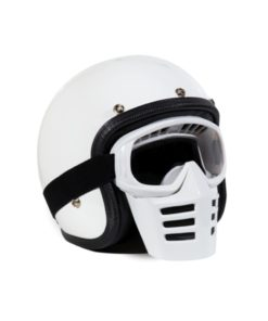 70's Helmets Off Road Mask White