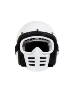 70's Helmets Off Road Mask White - Front