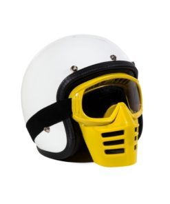 70's Helmets Off Road Mask Yellow
