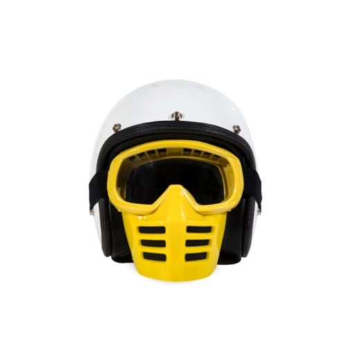 70's Helmets Off Road Mask Yellow - Front