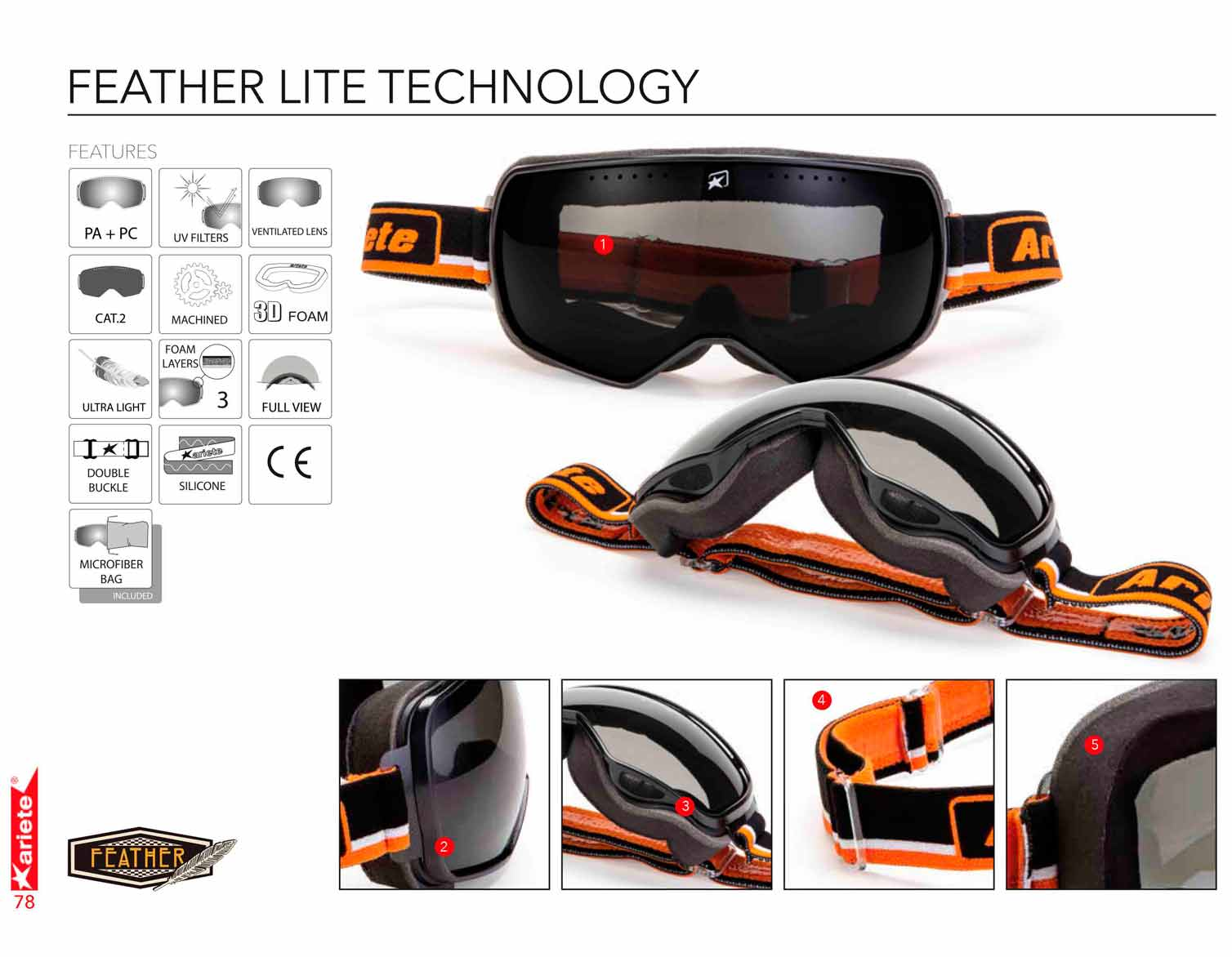 Ariete Feather Lite Goggles - Technical Specifications