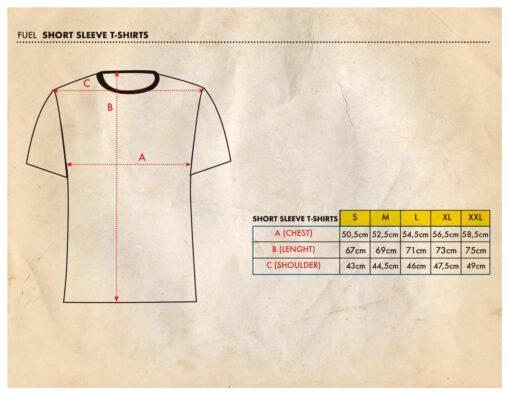 Fuel Tshirt - Size Chart