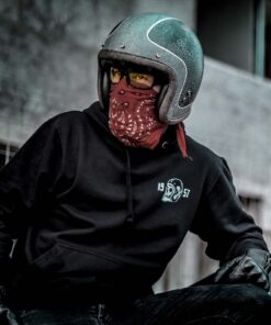 Skull Hoodie Death Rider Black - Front