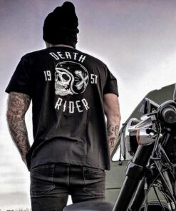 Skull T-Shirt Death Rider - Black