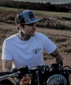 Skull T-Shirt Death Rider - White Front