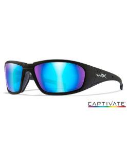 Wiley X BOSS Captivate Blue Mirror - Matte Black Frame