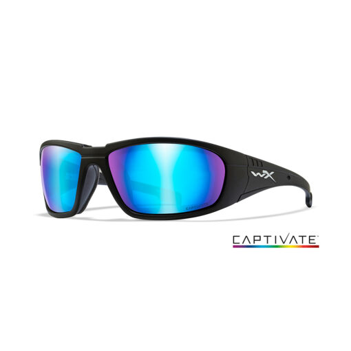 Wiley X BOSS Captivate Blue Mirror - Matte Black Frame