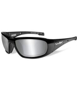 Wiley X BOSS Grey Silver Flash Gloss Black Frame