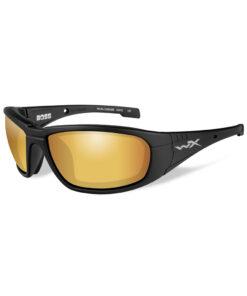 Wiley X BOSS Pol Venice Gold Mirror Matte Black Frame