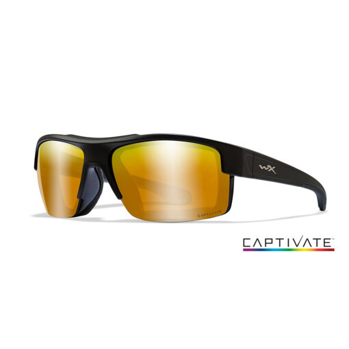 Wiley X COMPASS Captivate Bronze Mirr. Matte Black Frame