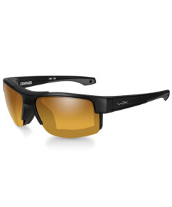 Wiley X COMPASS Pol Amber Gold Mirror Matte Black Frame