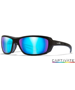 Wiley X WAVE Captivate Blue Mirror - Matte Black Frame