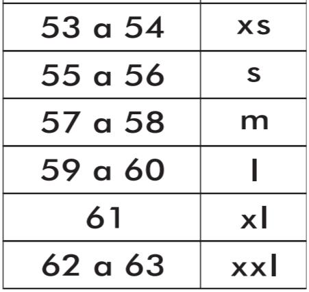 Premier Size Chart