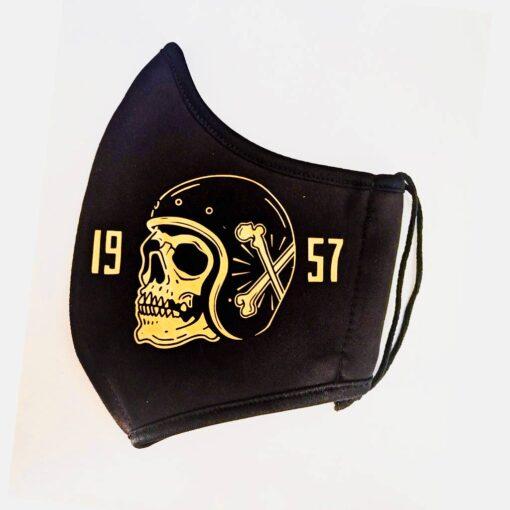 Skull Face Mask Death Rider - Gold