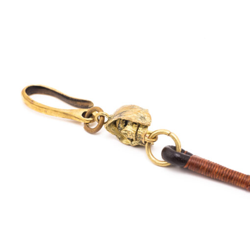 70's Biker Wallet Rope - Dark Brown Ring