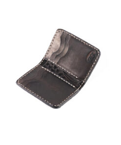 70's Credit Card Holder Wallet Black Engraved Interior