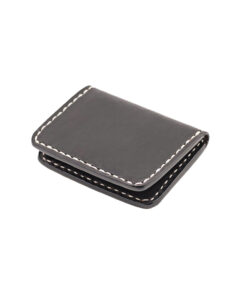 70's Credit Card Holder Wallet Black Flat