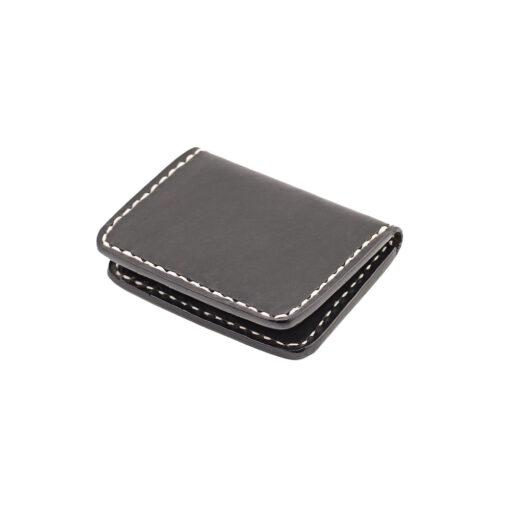 70's Credit Card Holder Wallet Black Flat