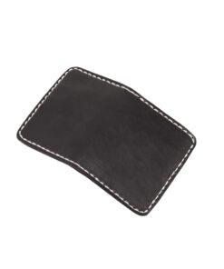 70's Credit Card Holder Wallet Black Flat Exterior