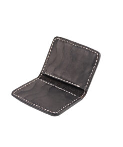 70's Credit Card Holder Wallet Black Flat Interior