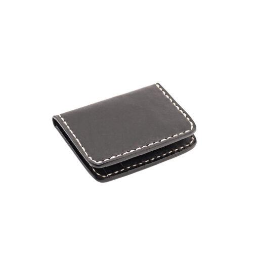 70's Credit Card Holder Wallet Black Flat Right