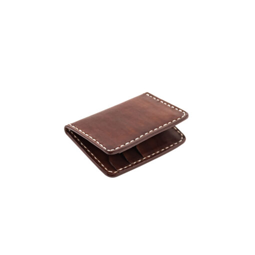 70's Credit Card Holder Wallet Brown Flat Right