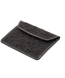 70's Document Holder Wallet Black Engraved