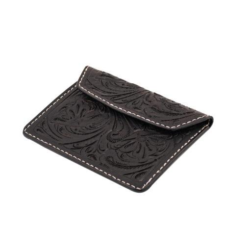 70's Document Holder Wallet Black Engraved