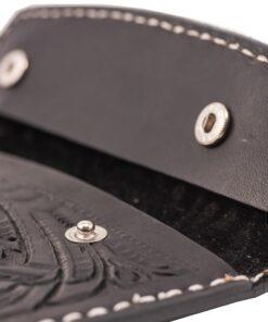 70's Document Holder Wallet Black Engraved Snap