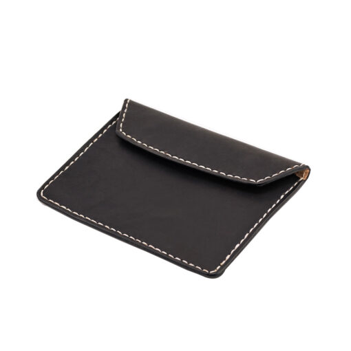 70's Document Holder Wallet Black Flat