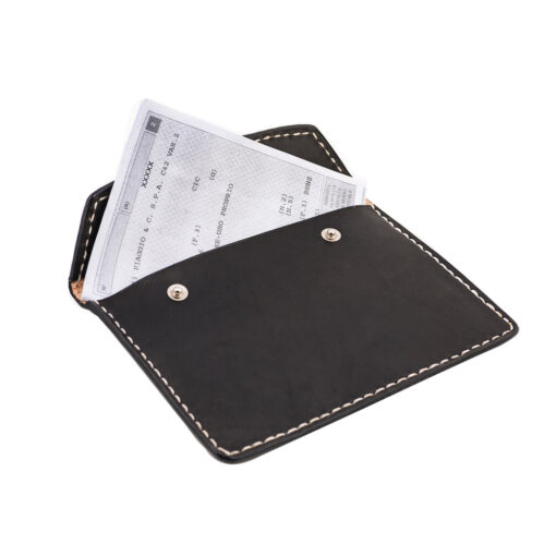 70's Document Holder Wallet Black Flat Demo