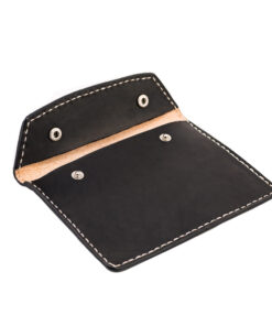 70's Document Holder Wallet Black Flat Open