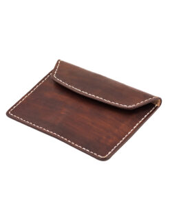 70's Document Holder Wallet Brown Flat