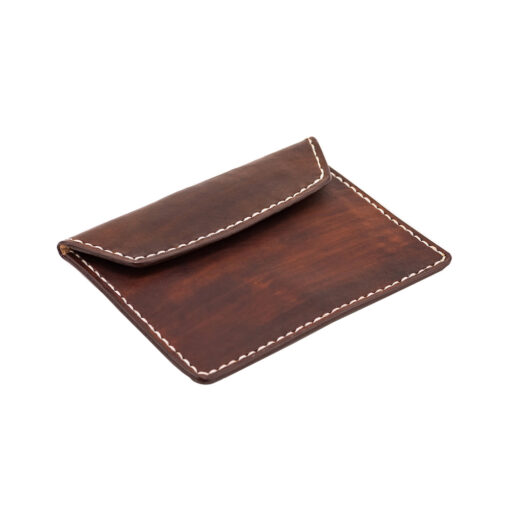 70's Document Holder Wallet Brown Flat Right