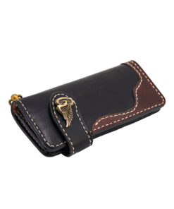 70's Wallet 2 Tones - Black Down