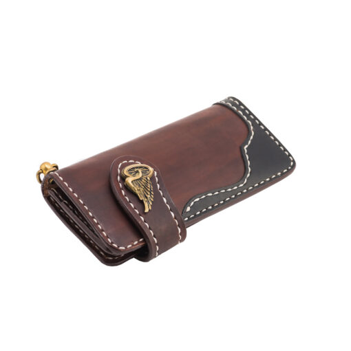 70's Wallet 2 Tones - Brown Down