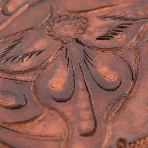 70's Long Engraved Wallet - Brown Details