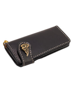70's Wallet Long Flat - Black Down