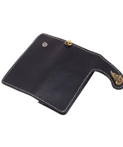 70's Wallet Long Flat - Black Exterior