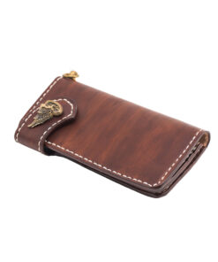 70's Wallet Long Flat - Brown