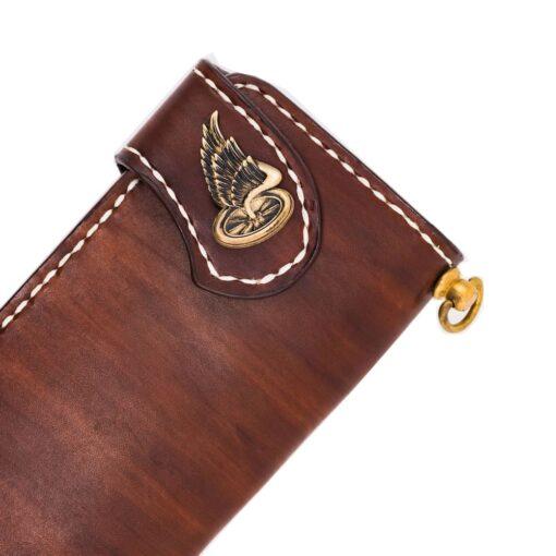 70's Wallet Long Flat - Brown Button
