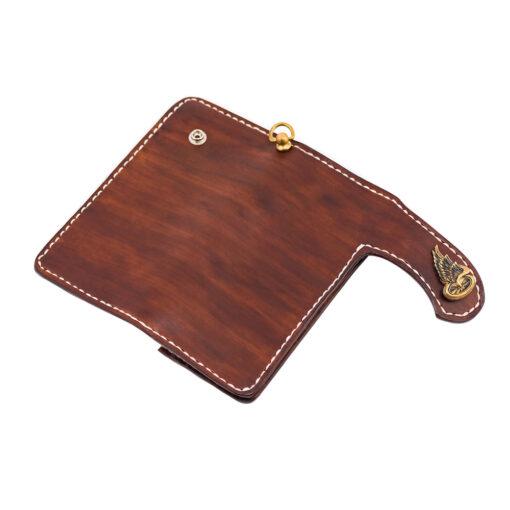 70's Wallet Long Flat - Brown Exterior